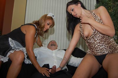Alexis and Latin Maid at CumBlastCity.com