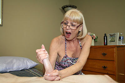Granny Scarlet Helps William Masturbate at CumBlastCity.com