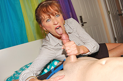 MILF gets blasted with cum at CumBlastCity.com