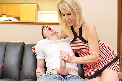 Mom Made Him JIZZ all over Himself at FinishHim.com
