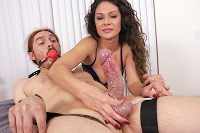 Jessica Torres: Edging His Monster Cock at MeanMassage.com
