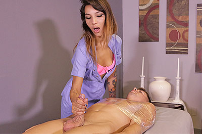 Kitty Carrera Ruins Him at MeanMassage.com
