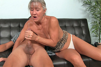 Perverted Granny Handjob at Over40HandJobs.com