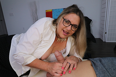 Jerking off my step-son at Over40HandJobs.com