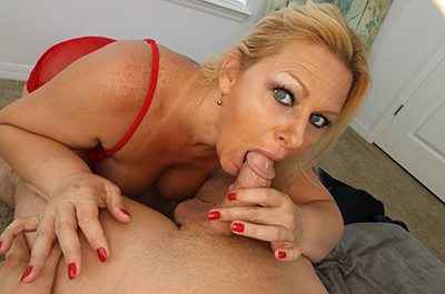 Selah Rain: Sucking my step-son's dick at Over40HandJobs.com