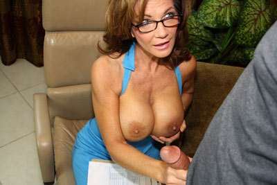 Young Boy Nuts On His Teacher at Over40HandJobs.com
