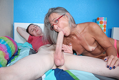 Mom Drains Sons Colossal Cock at SeeMomSuck.com