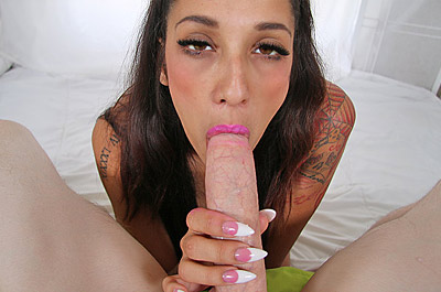 Nails Gliding Your Pulsating Cock at TeasePOV.com