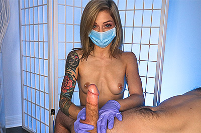 Perfect Technique - Masked Handjob at TeenTugs.com