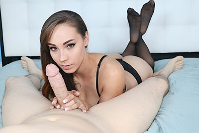 Sasha Foxxx Makes You Cum On Your Own Face at TeenTugs.com